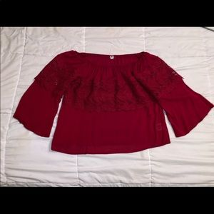 Burgundy Cropped top